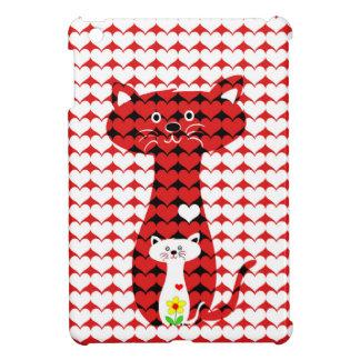 私は猫2を愛します iPad MINI CASE