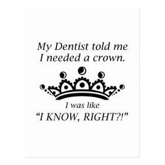 私は王冠を必要としました ポストカード