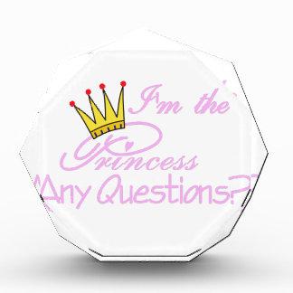 私は王女です 表彰盾