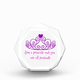 私は王女-おもしろいでガーリーなプロダクトです 表彰盾