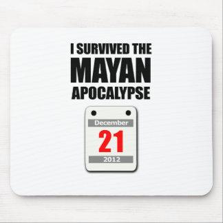 私は生き延びましたマヤの黙示録2012年(カレンダー)を マウスパッド