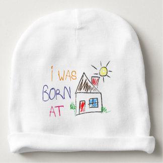 """""""私は生まれる家庭で""""ベビーの綿の帽子の帽子でした ベビービーニー"""