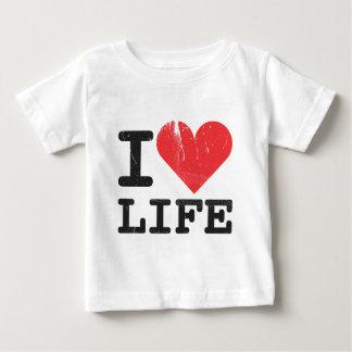 私は生命乳児のTシャツを愛します ベビーTシャツ