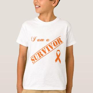 私は生存者-オレンジリボンです Tシャツ