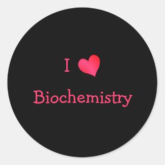 私は生物化学を愛します ラウンドシール