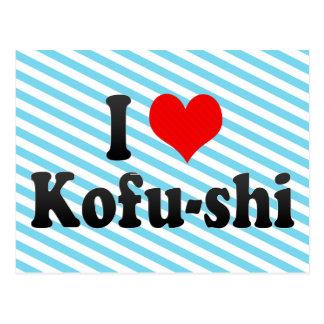 私は甲府shi、日本を愛します。 Aisuru甲府Shi、日本 ポストカード