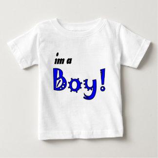 私は男の子です ベビーTシャツ