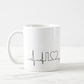 私は異常なecgのスタイルのGrand Rapidsを愛します コーヒーマグカップ