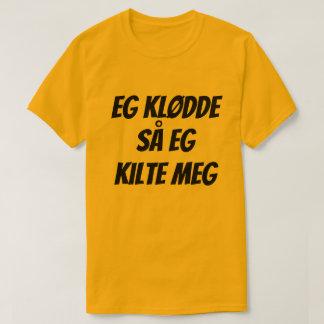 私は疥癬を有しました従って私はノルウェー語の自分自身を、くすぐります Tシャツ