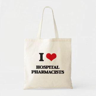 私は病院の薬剤師を愛します トートバッグ