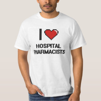 私は病院の薬剤師を愛します Tシャツ
