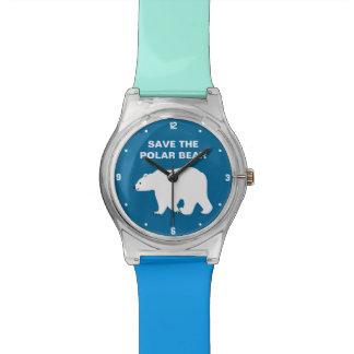 私は白くまを愛します-白くまを救って下さい 腕時計