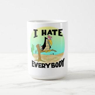 私は皆を飲料のマグ憎みます コーヒーマグカップ