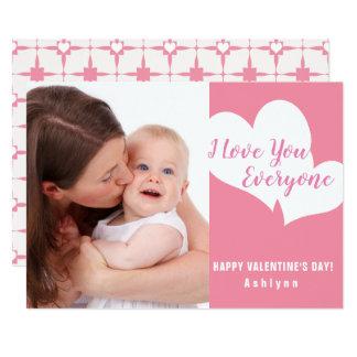 私は皆|のバレンタインデーの写真カード愛します カード