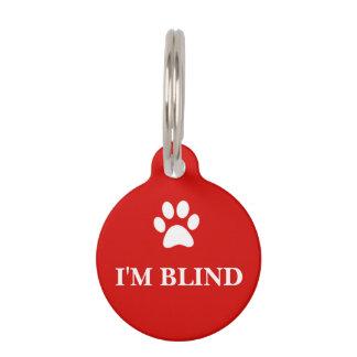 """""""私は盲目の""""認識度のペットタグです ペット 名札"""