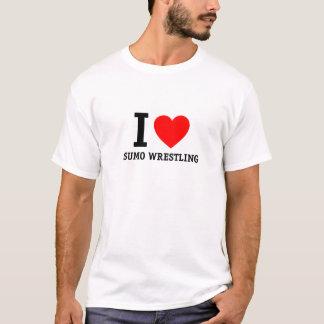 私は相撲レスリングを愛します Tシャツ