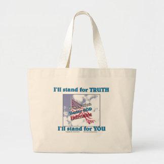 私は真実を…意味します ラージトートバッグ