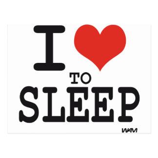 私は眠ることを愛します 葉書き