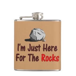私は石のためにちょうどここにいます フラスク