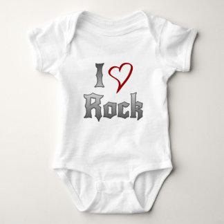 私は石を愛します ベビーボディスーツ