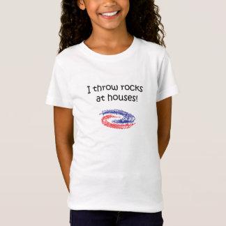 私は石を投げます Tシャツ