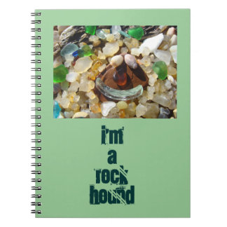 私は石猟犬のノートのSeaglassの瑪瑙の石です ノートブック