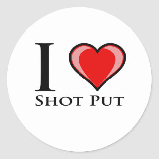 私は砲丸投げ愛します ラウンドシール
