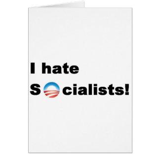私は社会主義者を憎みます カード