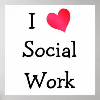 私は社会事業を愛します ポスター