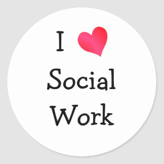 私は社会事業を愛します ラウンドシール