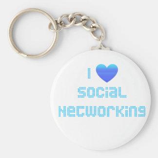 私は社会的なネットワーキングを愛します キーホルダー