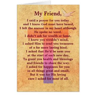私は祈りの言葉を言いました -- 感動的な挨拶状 グリーティングカード