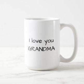 私は祖母のクラシックで白いマグ愛します コーヒーマグカップ