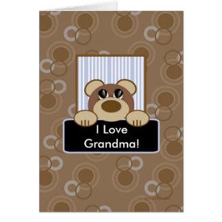 私は祖母を愛します グリーティングカード