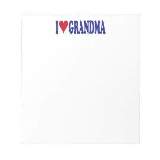 私は祖母を愛します ノートパッド
