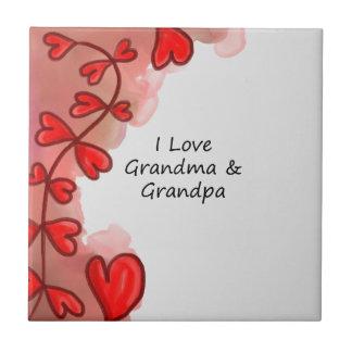 私は祖母及び祖父を愛します タイル