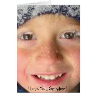私は祖母愛します グリーティングカード