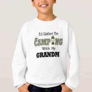 私は祖父とむしろキャンプしていました スウェットシャツ