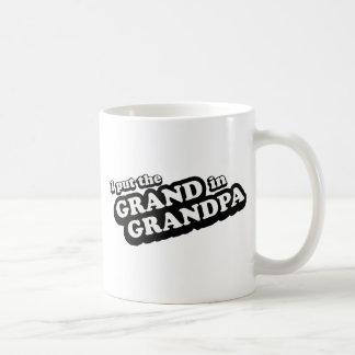 私は祖父に壮大の置きました コーヒーマグカップ