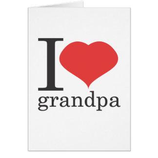 私は祖父を愛します カード