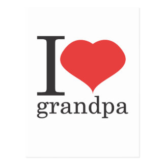 私は祖父を愛します ポストカード