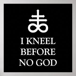 私は神の前にひざまずきません ポスター