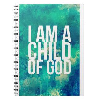 私は神の子供です: クリスチャンのためのノート ノートブック