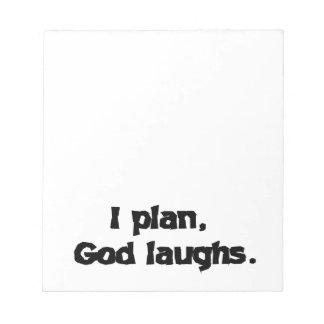 私は神の笑いを計画します ノートパッド