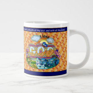 私は神を愛します ジャンボコーヒーマグカップ