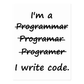 私は私がコード悪い状態のSpellerを書くプログラマーです ポストカード