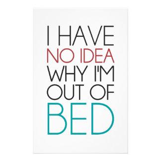 私は私がベッドからなぜあるかわかりません 便箋