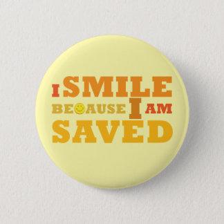 私は私がボタンを救われるので微笑します 5.7CM 丸型バッジ