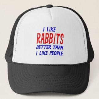 私は私が人々の帽子を好むよりよいウサギを好みます キャップ