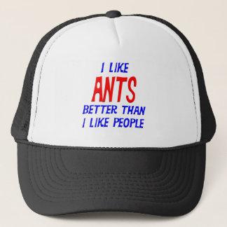 私は私が人々の帽子を好むよりよい蟻を好みます キャップ
